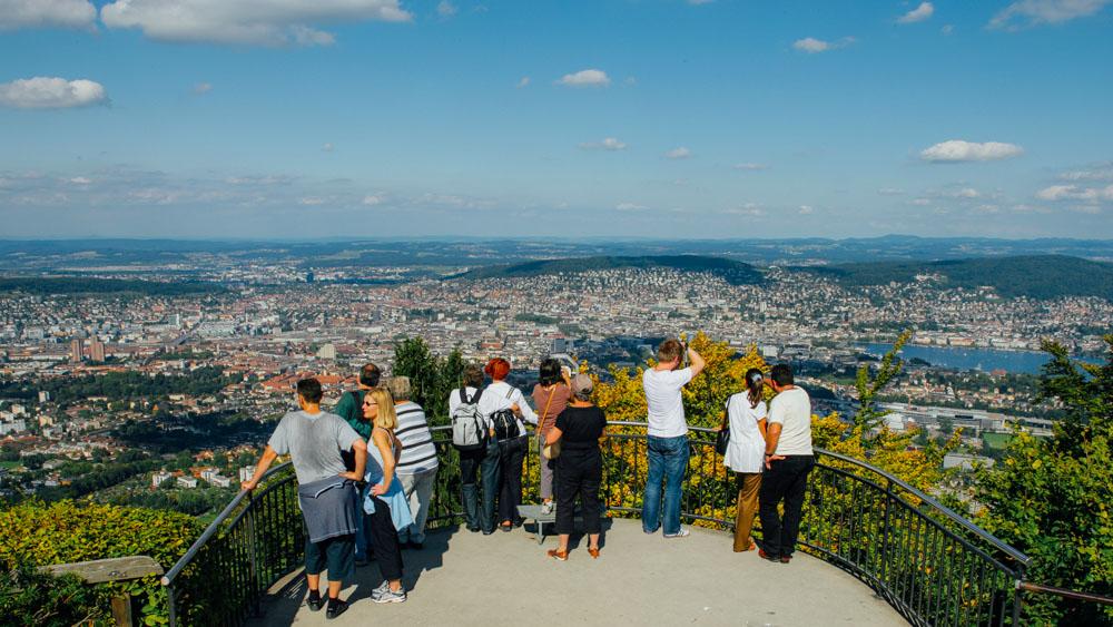 Смотровая площадка на горе Уитлиберг