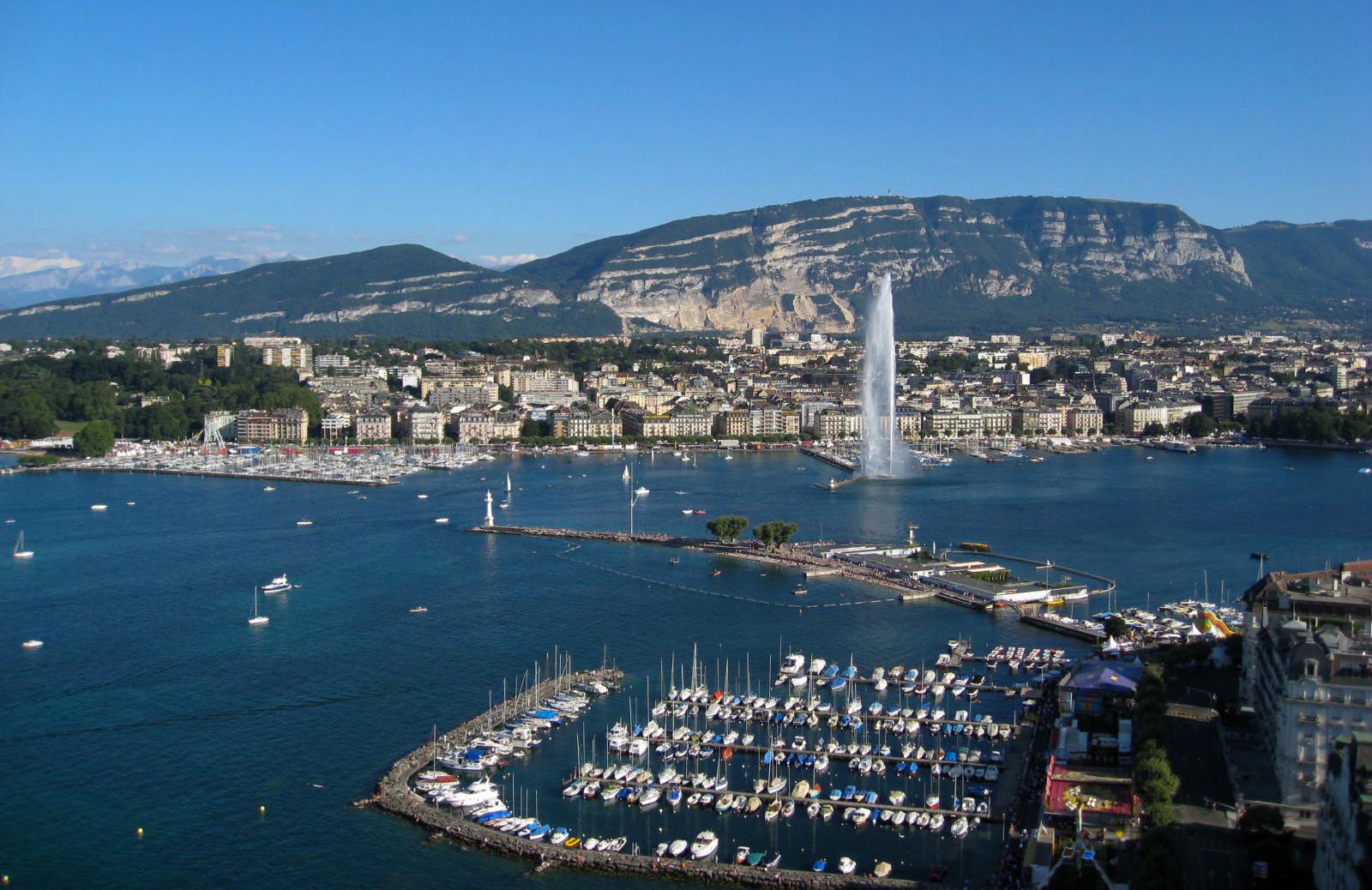 Фото: Женева и Женевское озеро