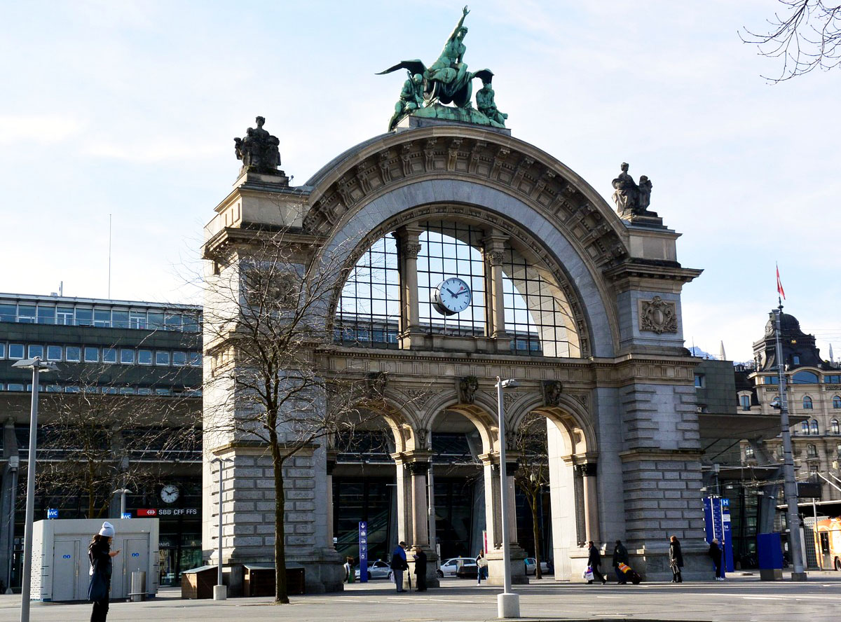 Железнодорожный вокзал в Люцерне