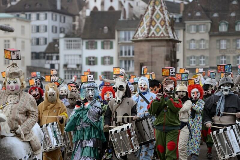 Фото: карнавал в Базеле