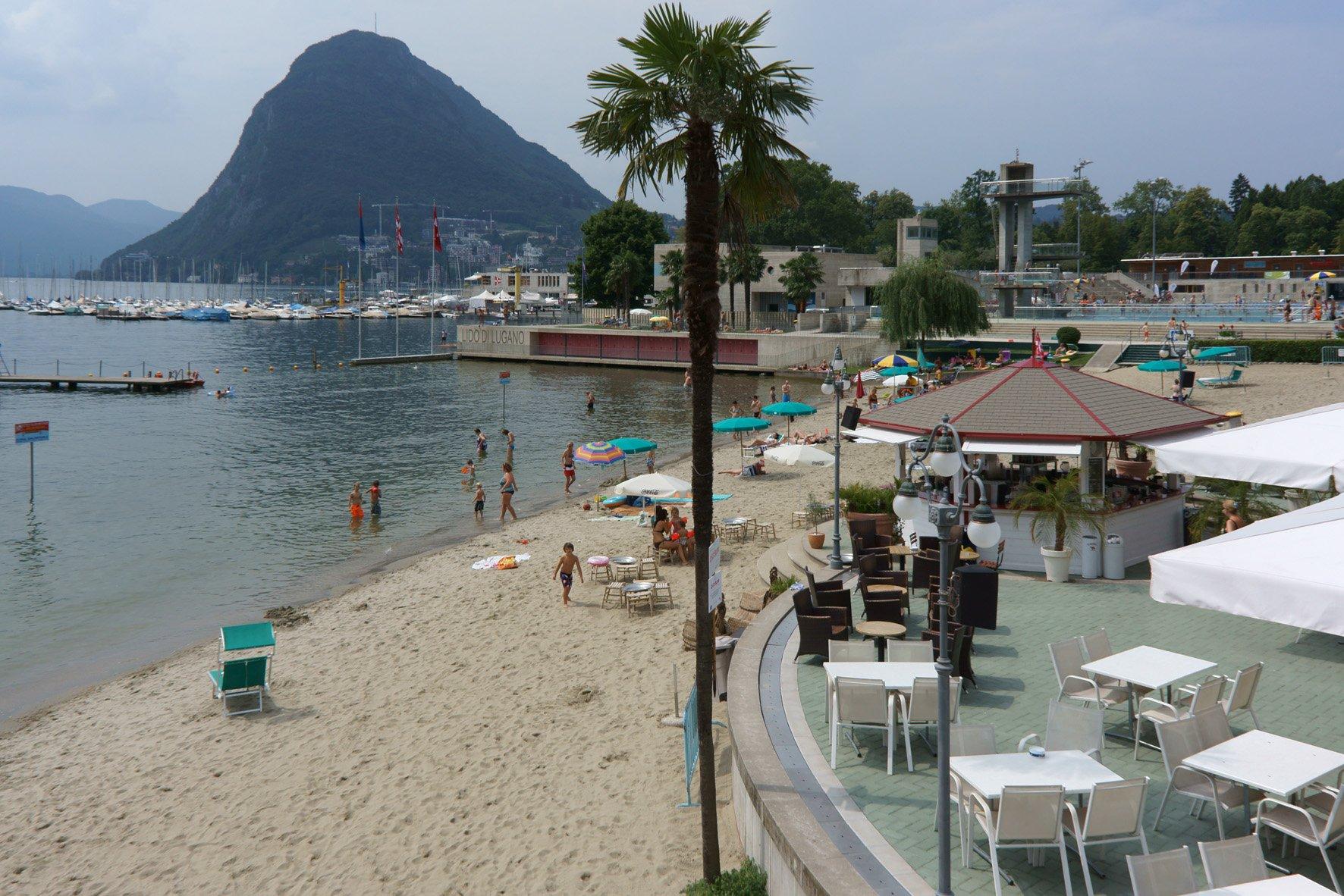 Пляжная зона Lido di Lugano