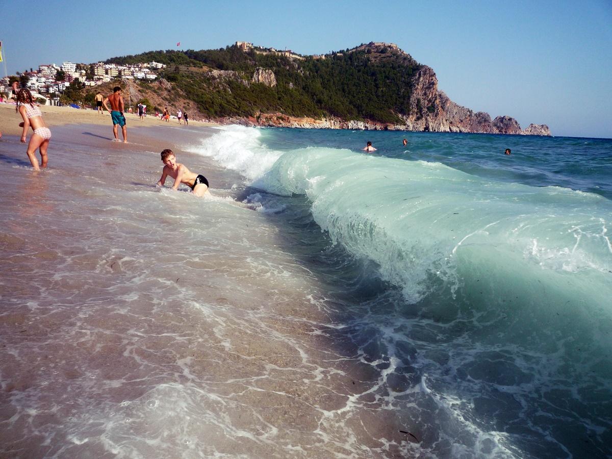 На пляже в Аланье