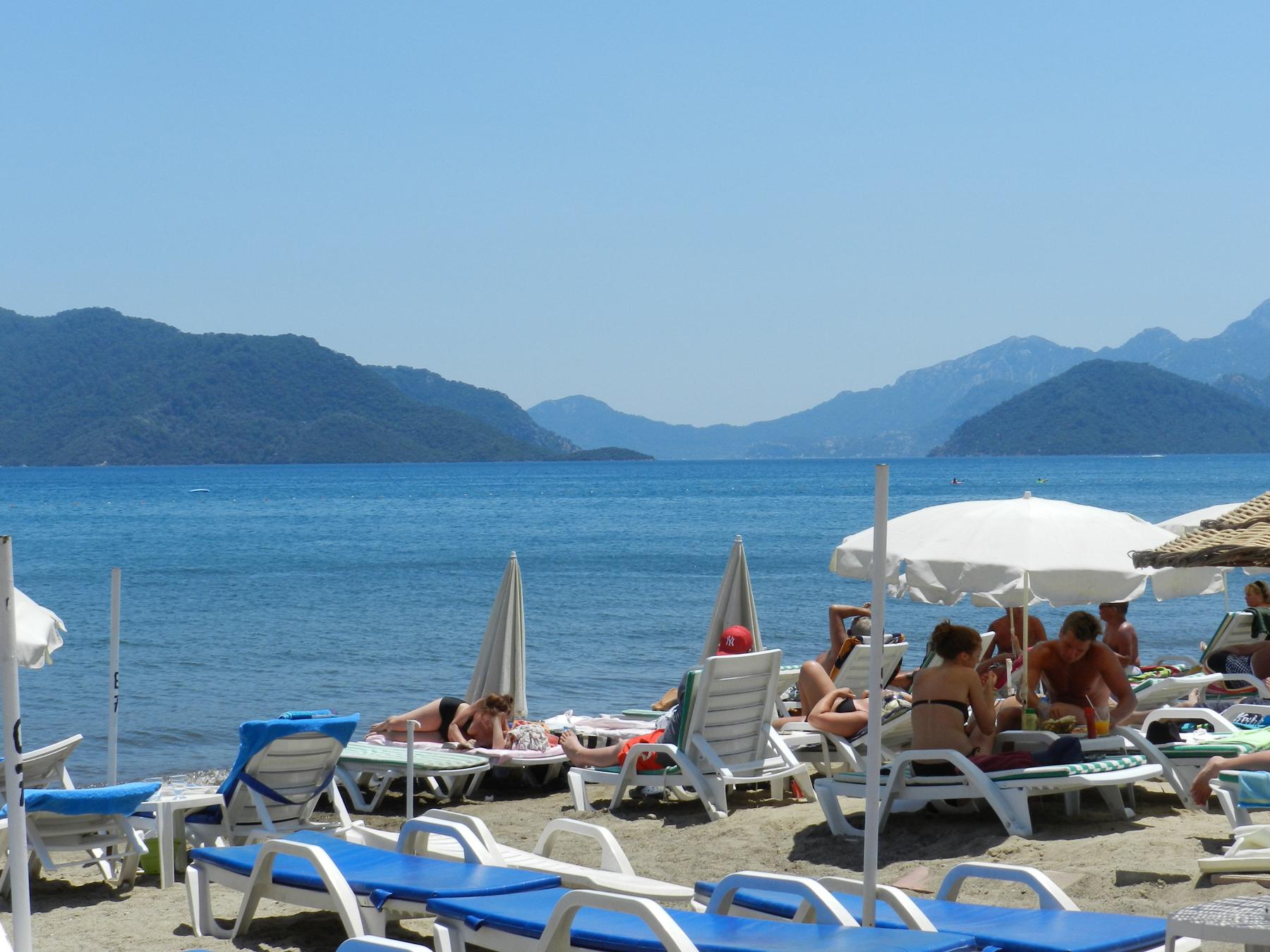 Пляж в Мармарисе, Турция