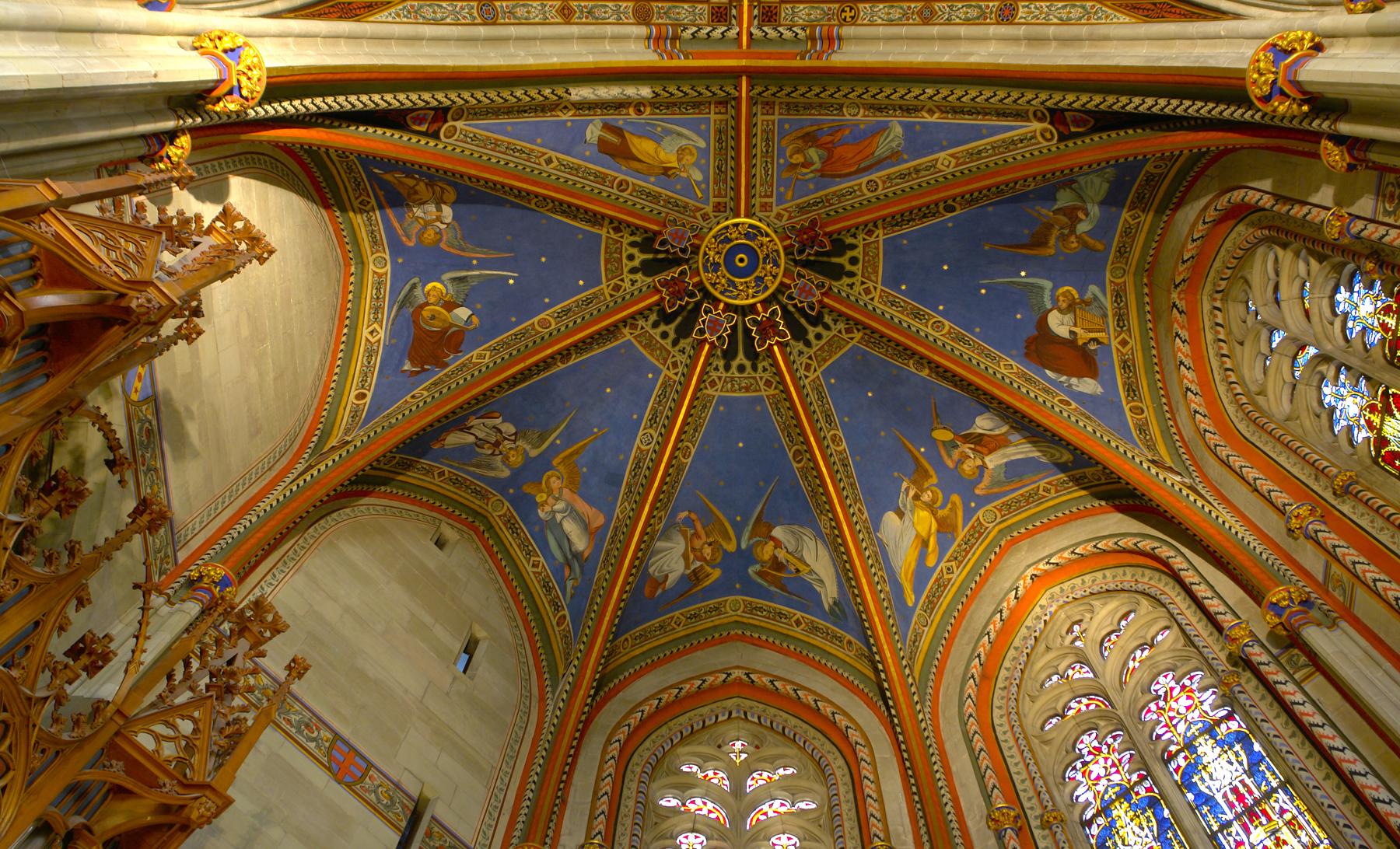 Роспись в соборе Святого Петра в Женеве