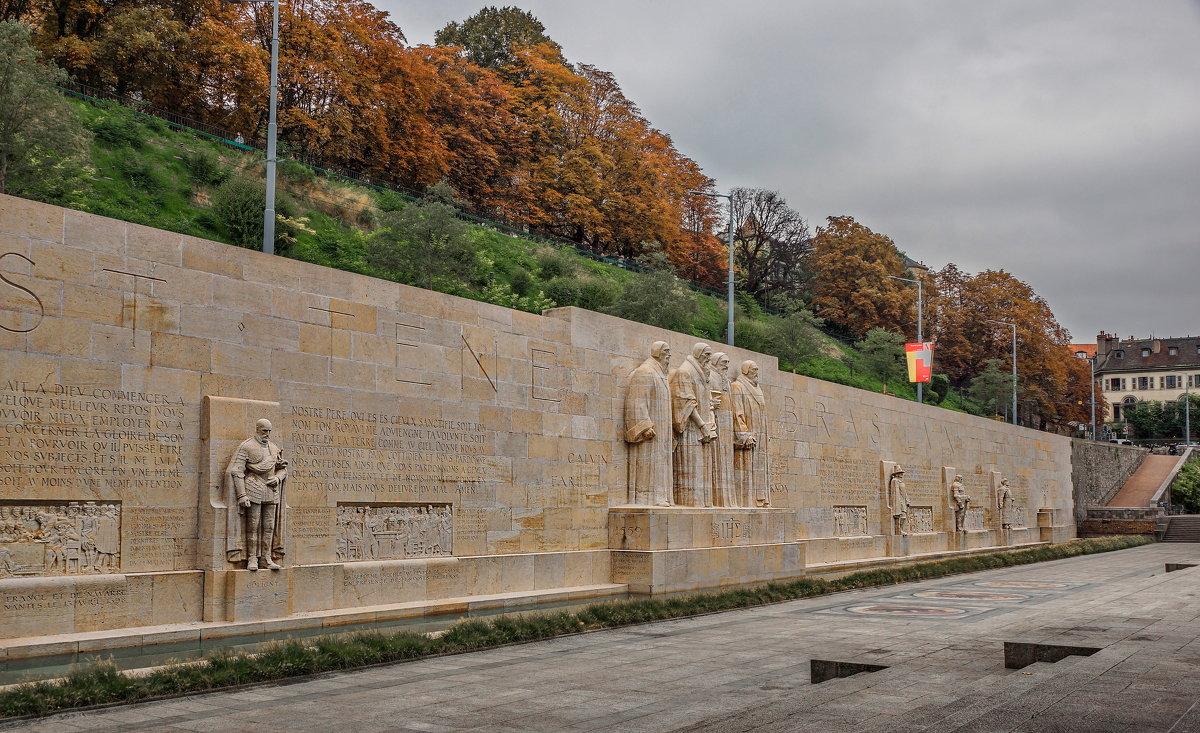 Стена Реформации в Женева, Швейцария