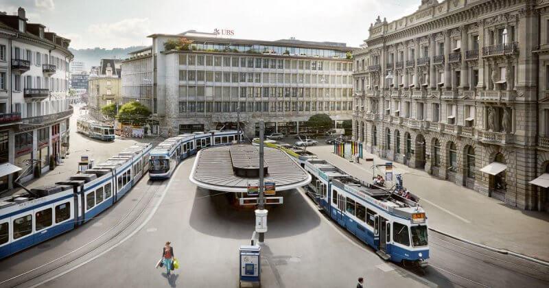Фото: трамваи в Цюрихе