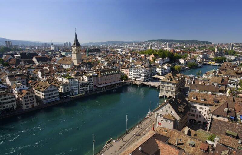 Вид на Цюрих