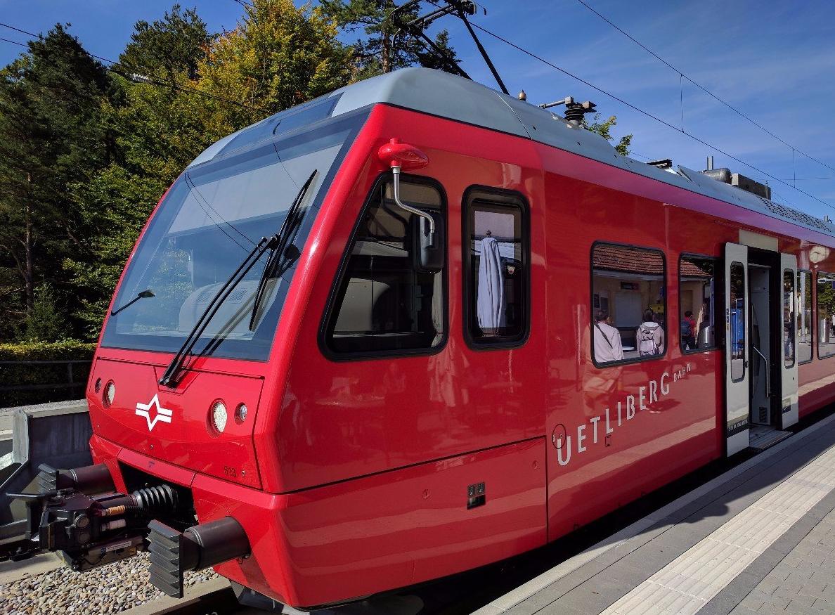 Поезд до горы Уитлиберг
