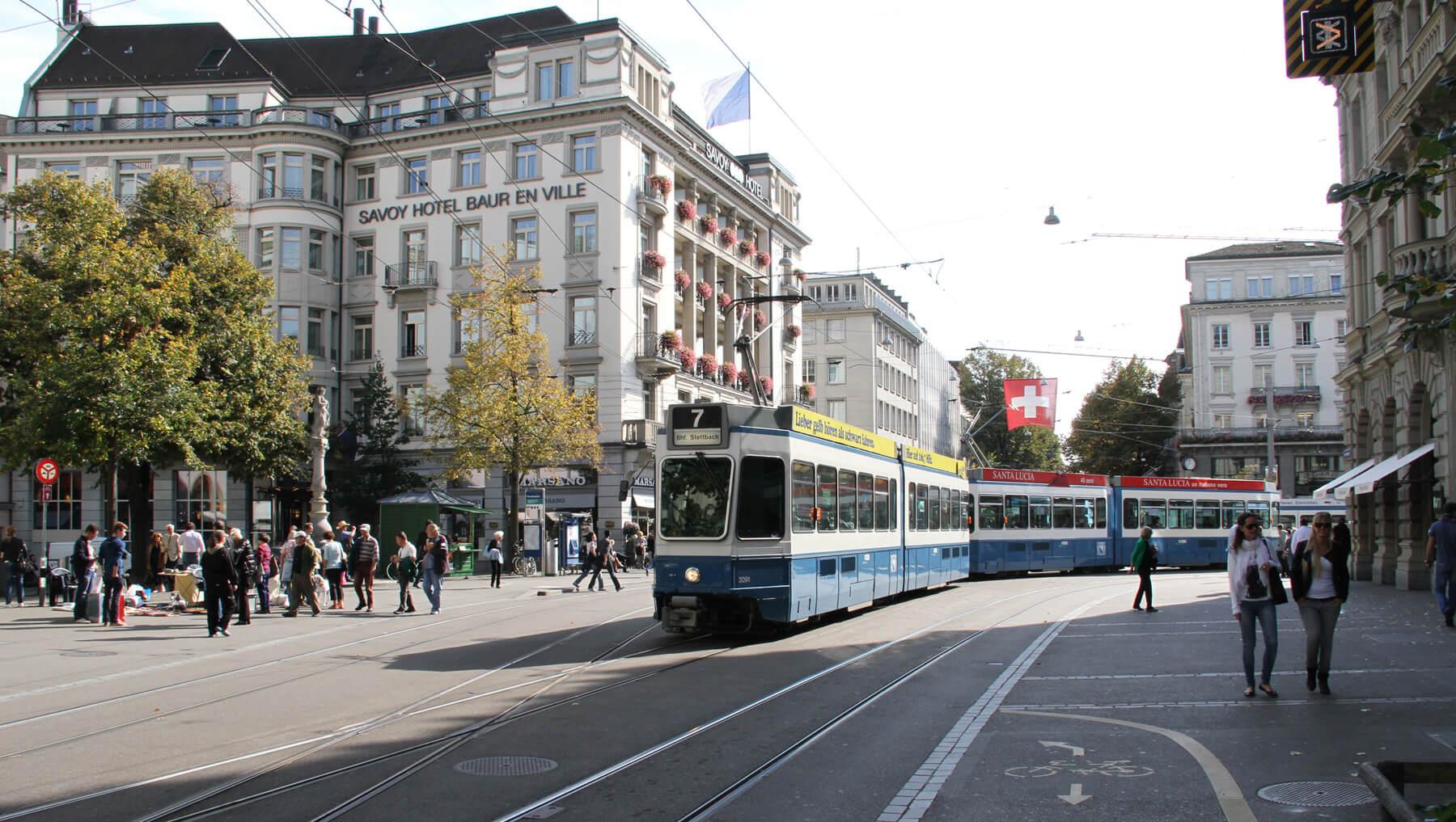Улица Банхофштрассе (Bahnhofstrasse)
