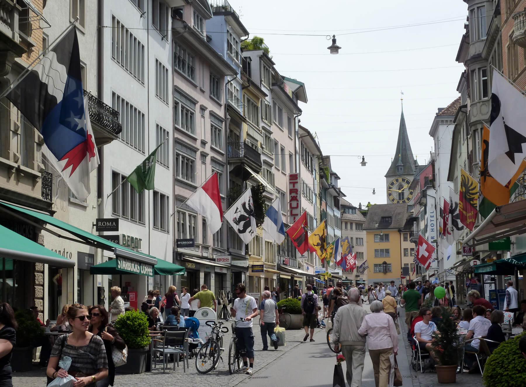 Магазины на улице Банхофштрассе