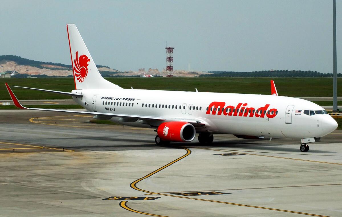 Самолет авиакомпании MalindoAir