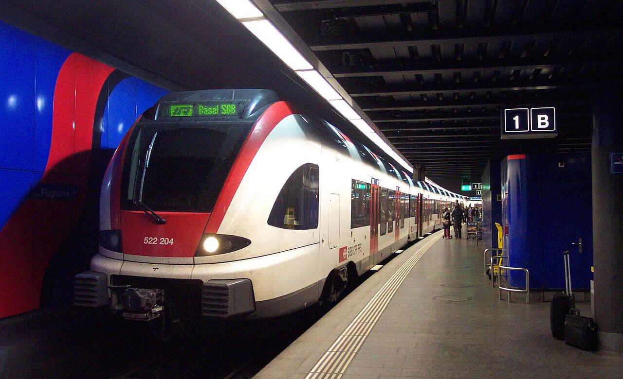 ЖД станция Zürich Flughafen