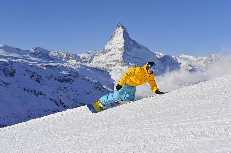 Катание на сноуборде в Церматт
