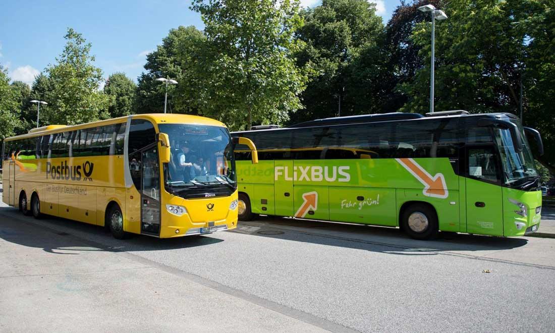 Автобус Flixbus в Лунд