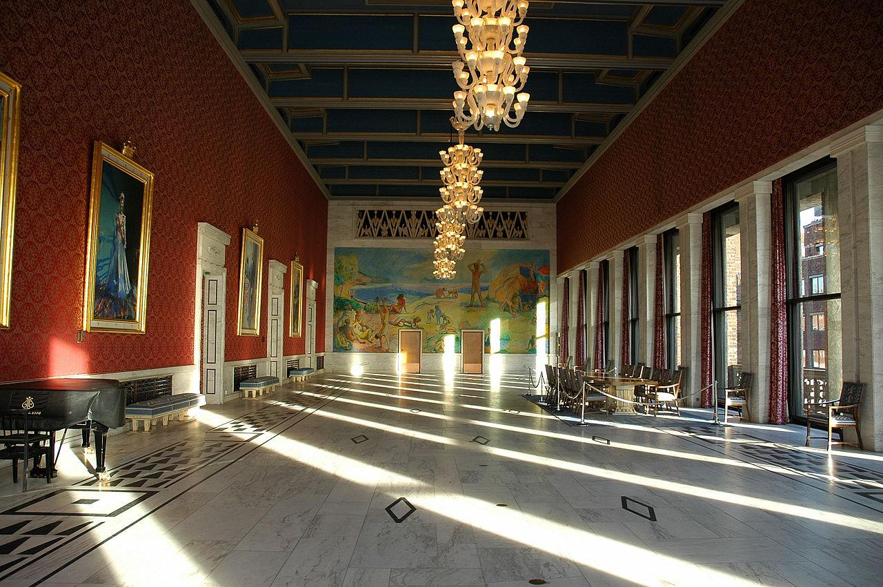 Банкетный зал ратуши Осло