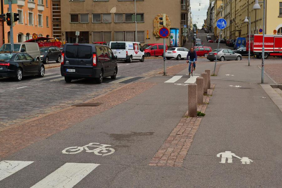 Велосипедные дорожки в Хельсинках