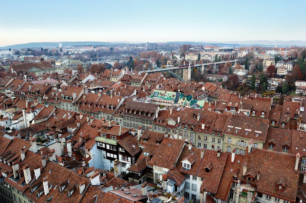 Вид с Мюнстера на старый город Берн