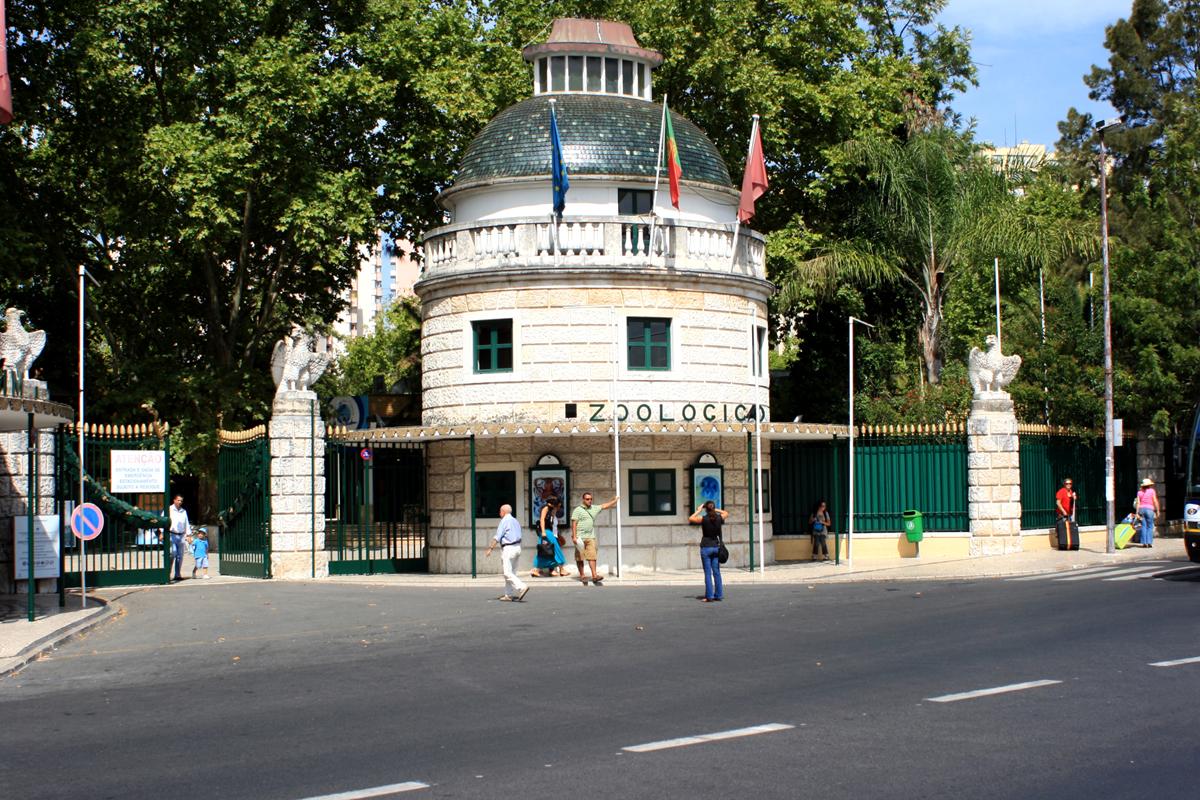 Вход в зоопарк в Лиссабоне