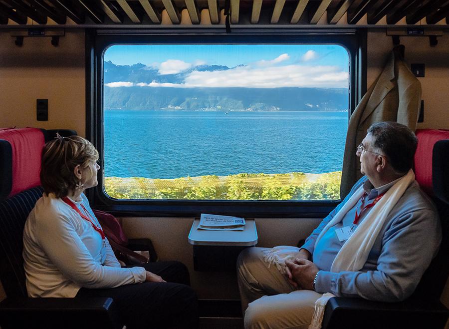 В швейцарском поезде