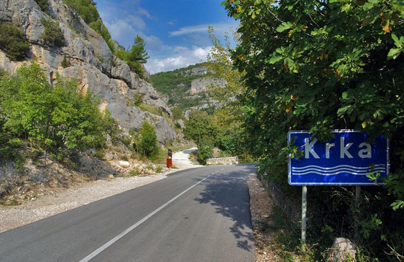 Дорога в Национальный парк Крка