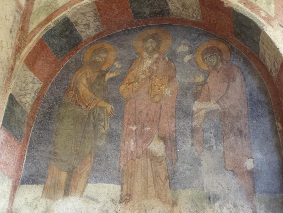 Древние фрески в церкви Святого Николая Чудотворца
