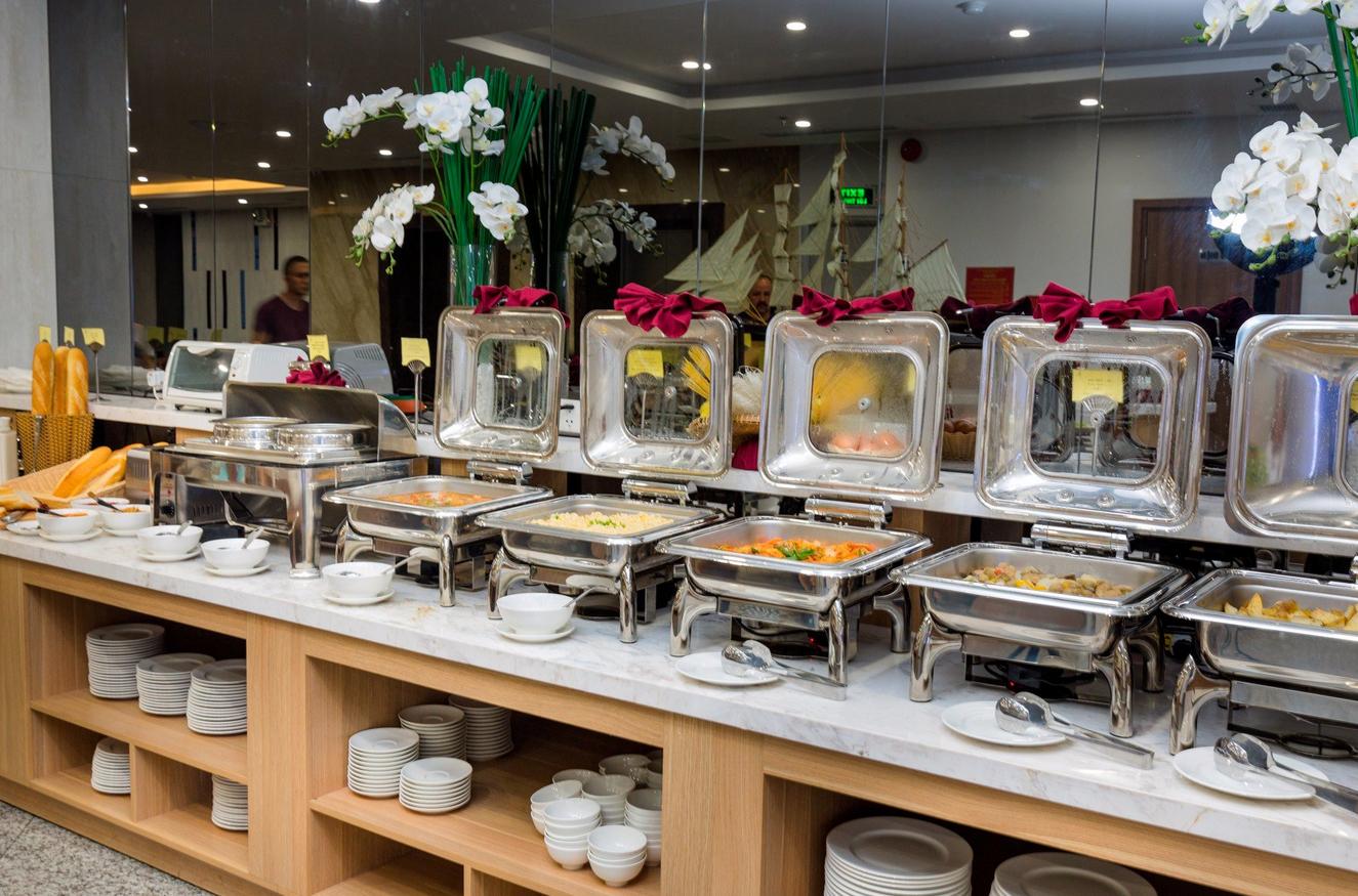 Завтрак-буфет в отеле Gosia Hotel