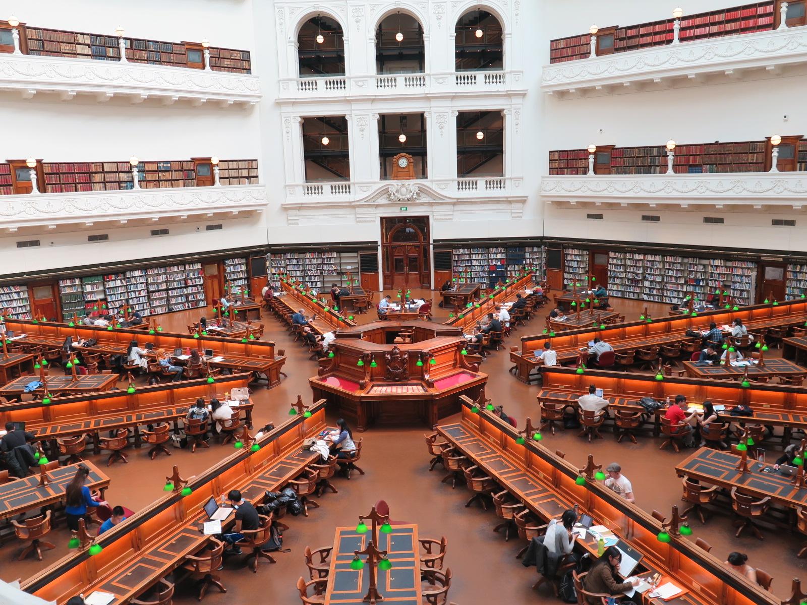 Интерьер государственной библиотеки Виктория
