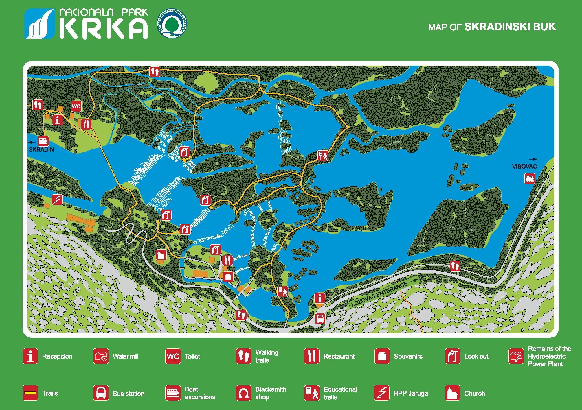 Карта Национального парка Крк