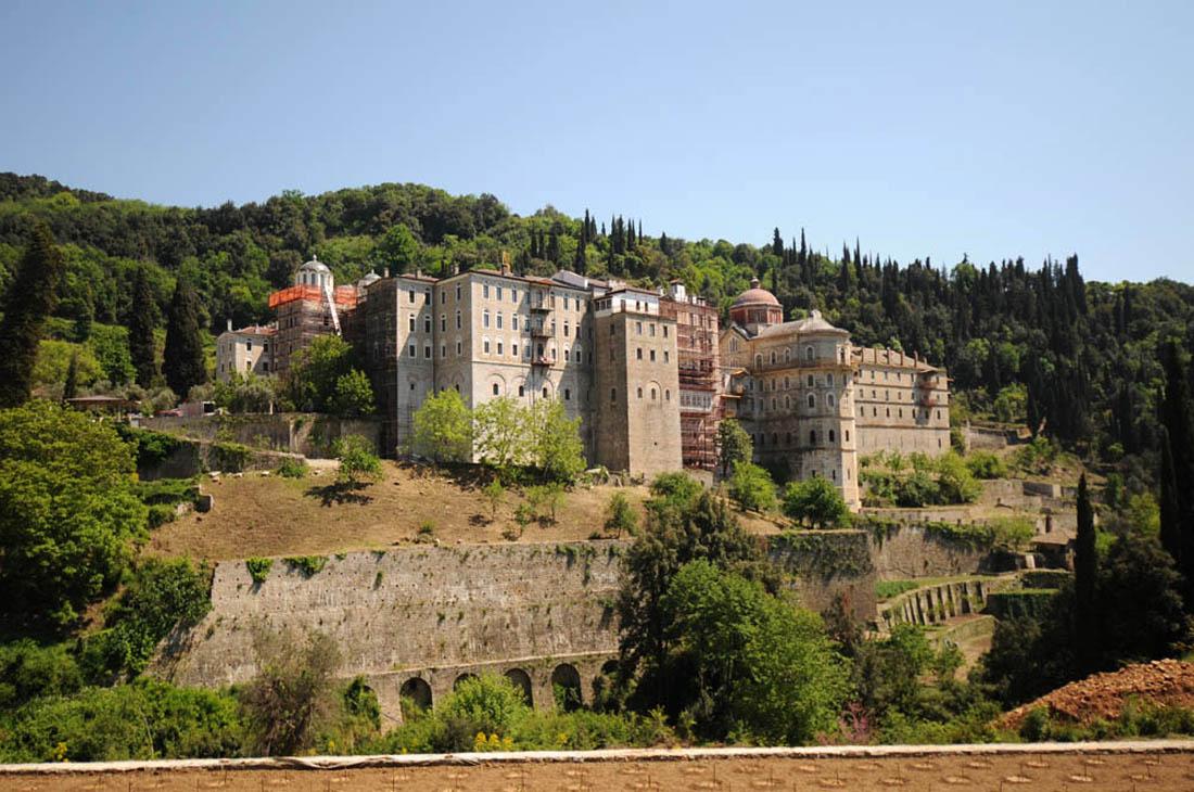 Общий вид монастыря Зограф