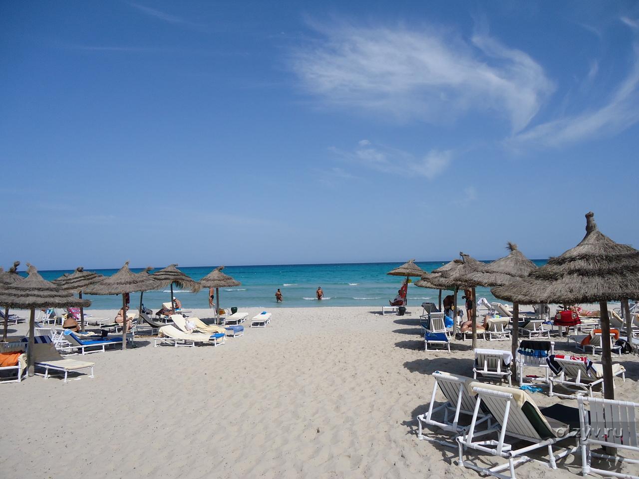 Песчаный пляж в Турции