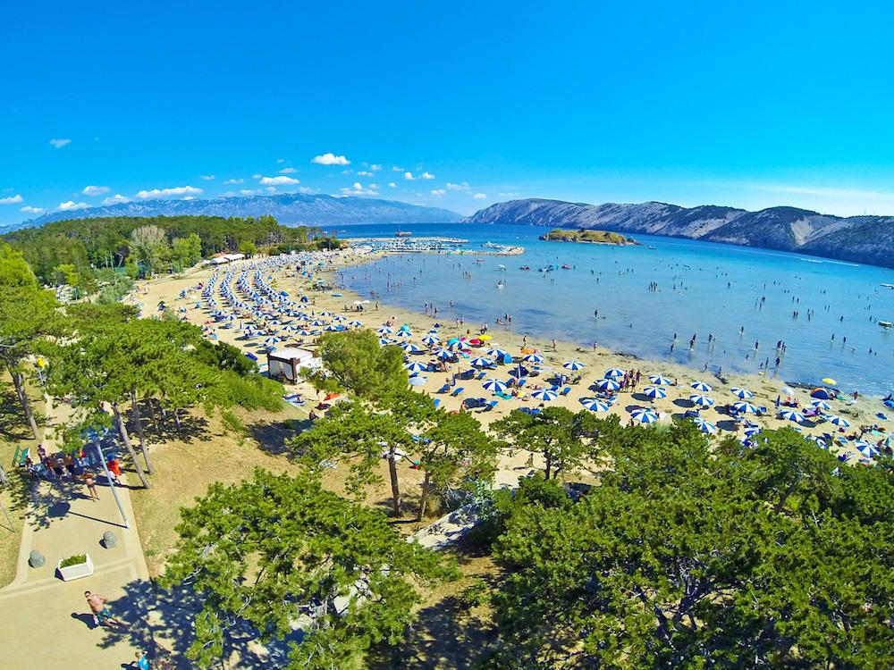 Райский пляж на о. Раб