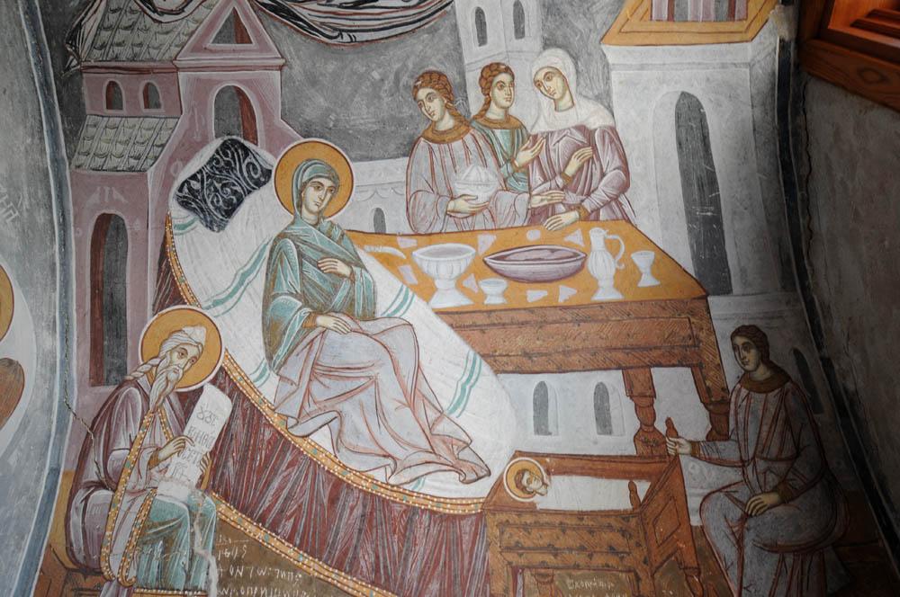 Фреска Рождество Богородицы