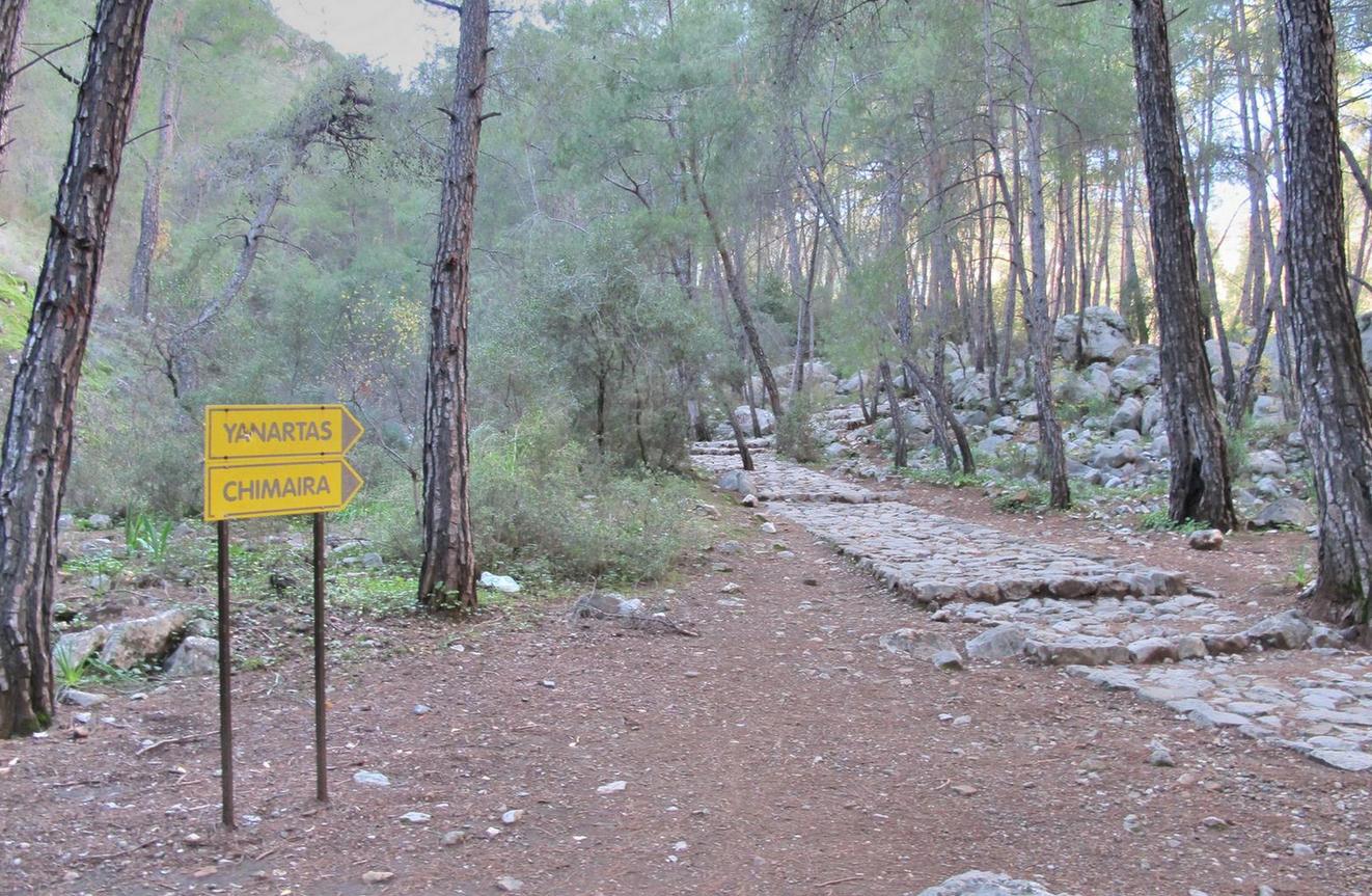 Указатель дороги к горе Янарташ