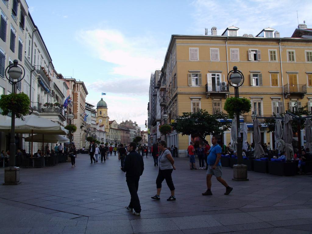 Улица Корзо в Риеки