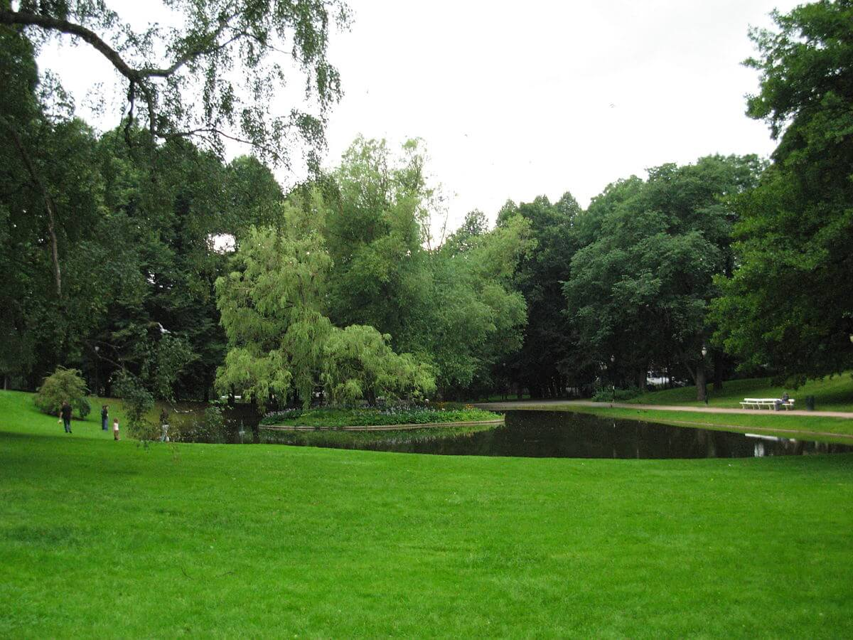 Живописный парк Slottsparken