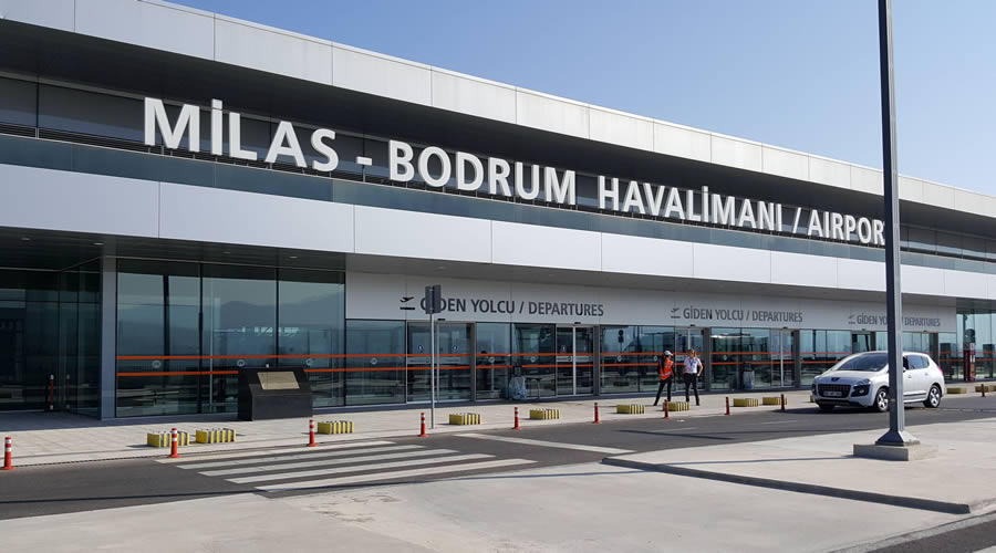 Аэропорт Милас-Бодрум к западу от города Мугла