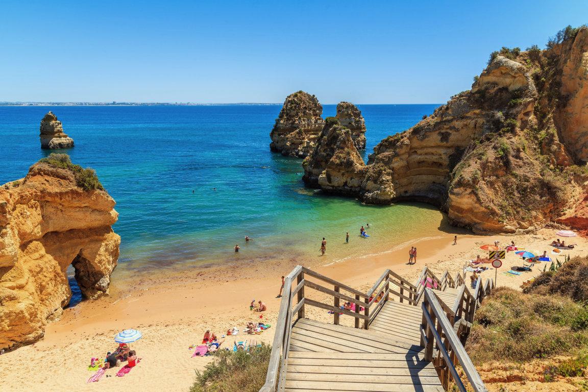 Спус на пляж Praia do Camilo