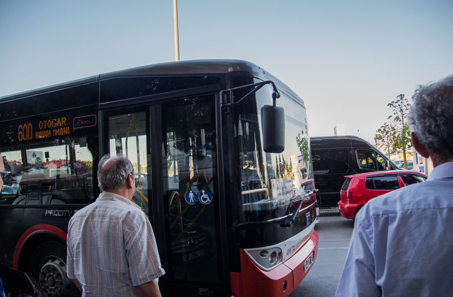 Из аэропорта автобус № 600