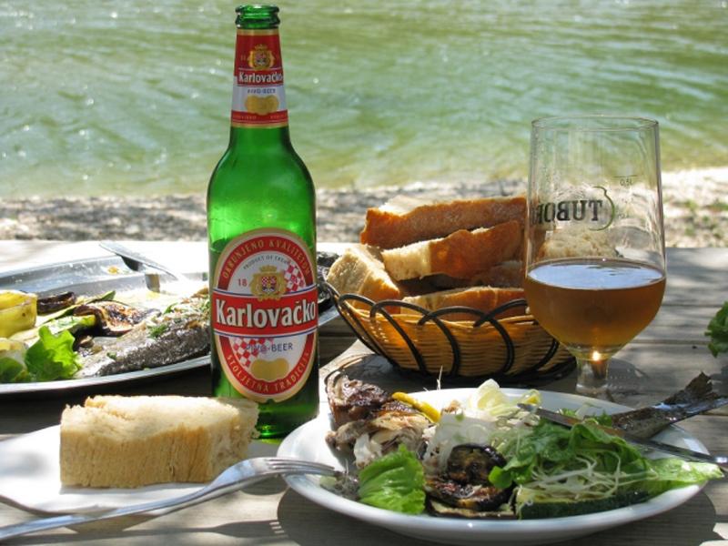 Обед с хорватским пивом