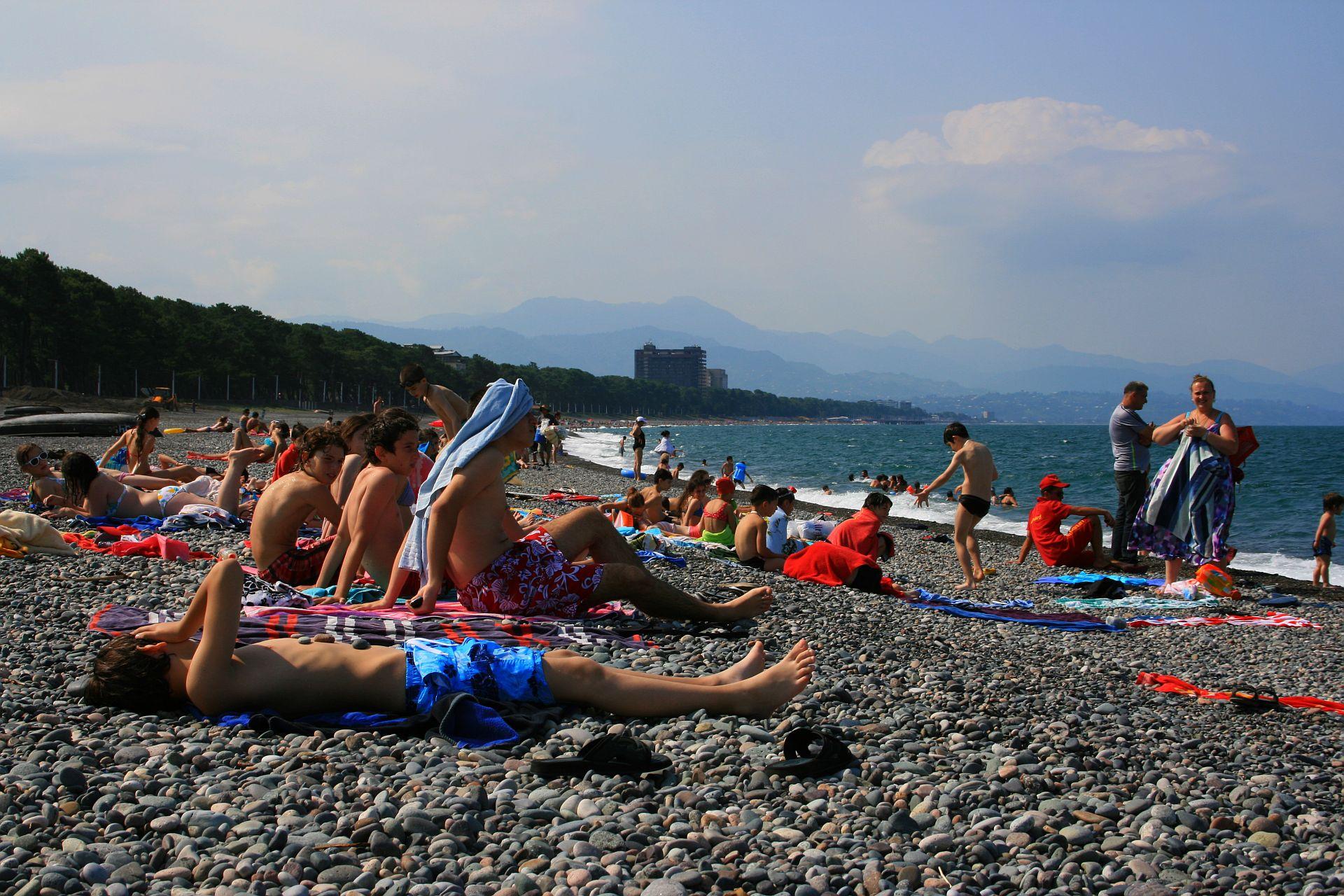 Пляж Кобулети, Грузия