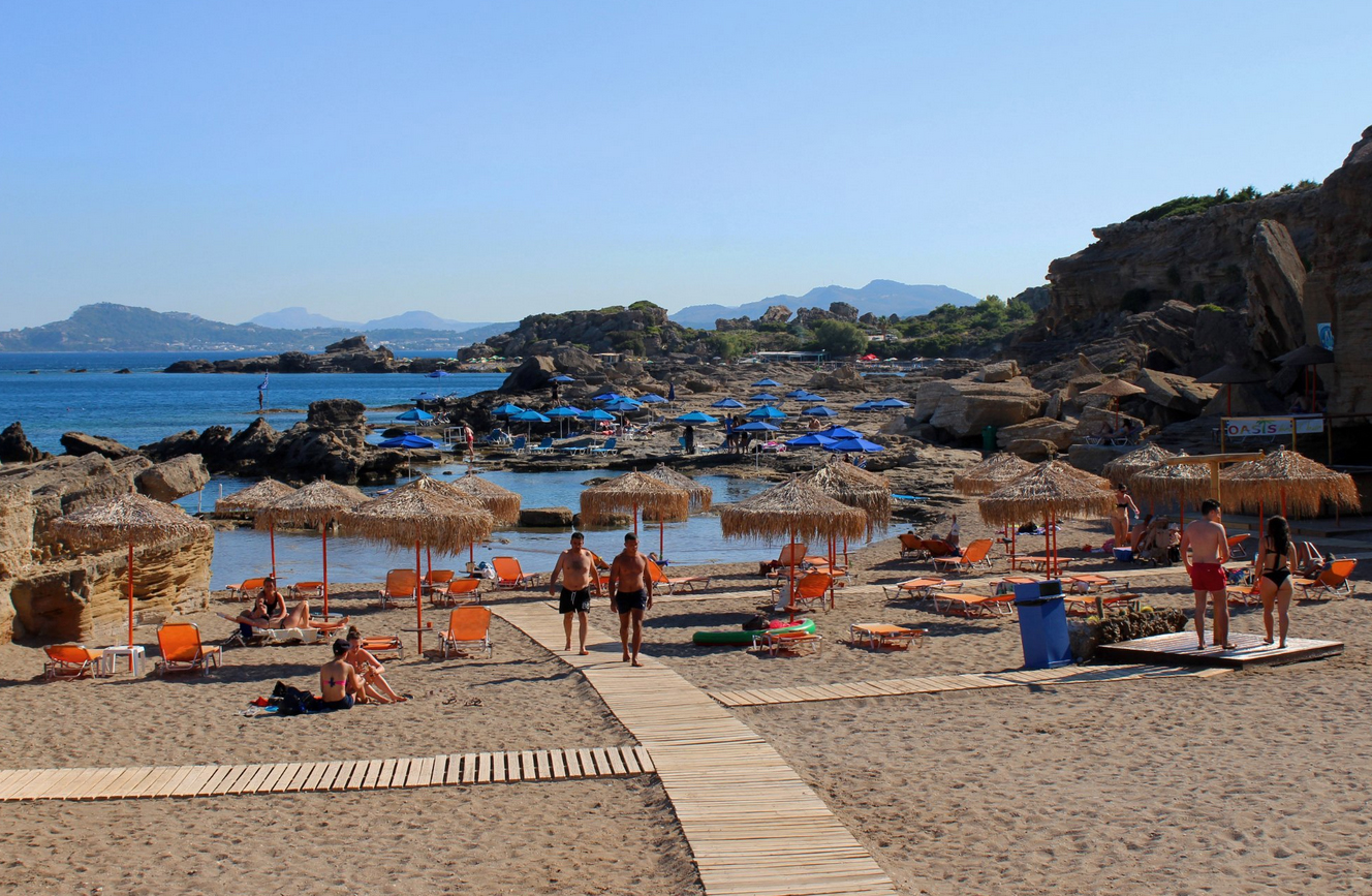 Пляж Оазис, Родос
