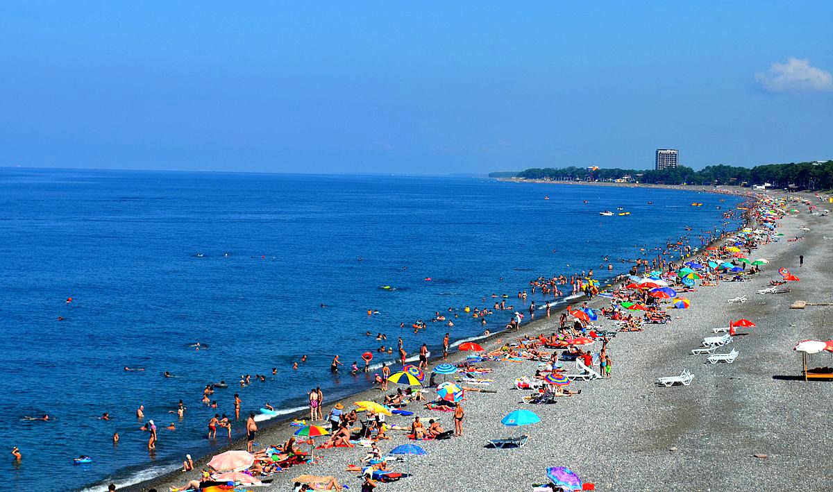 Пляж города Кобулети