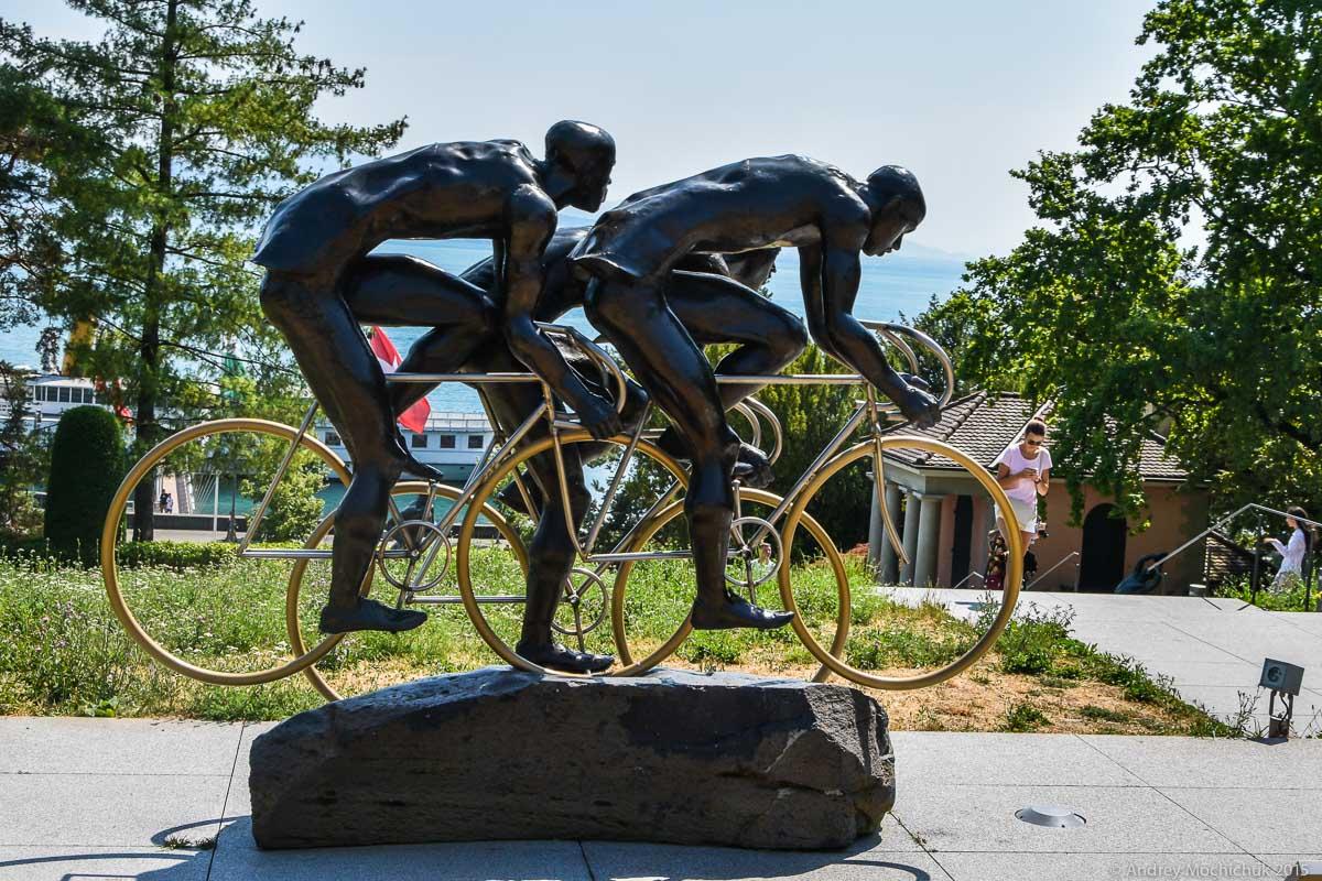 В Олимпийском парке Лозанны