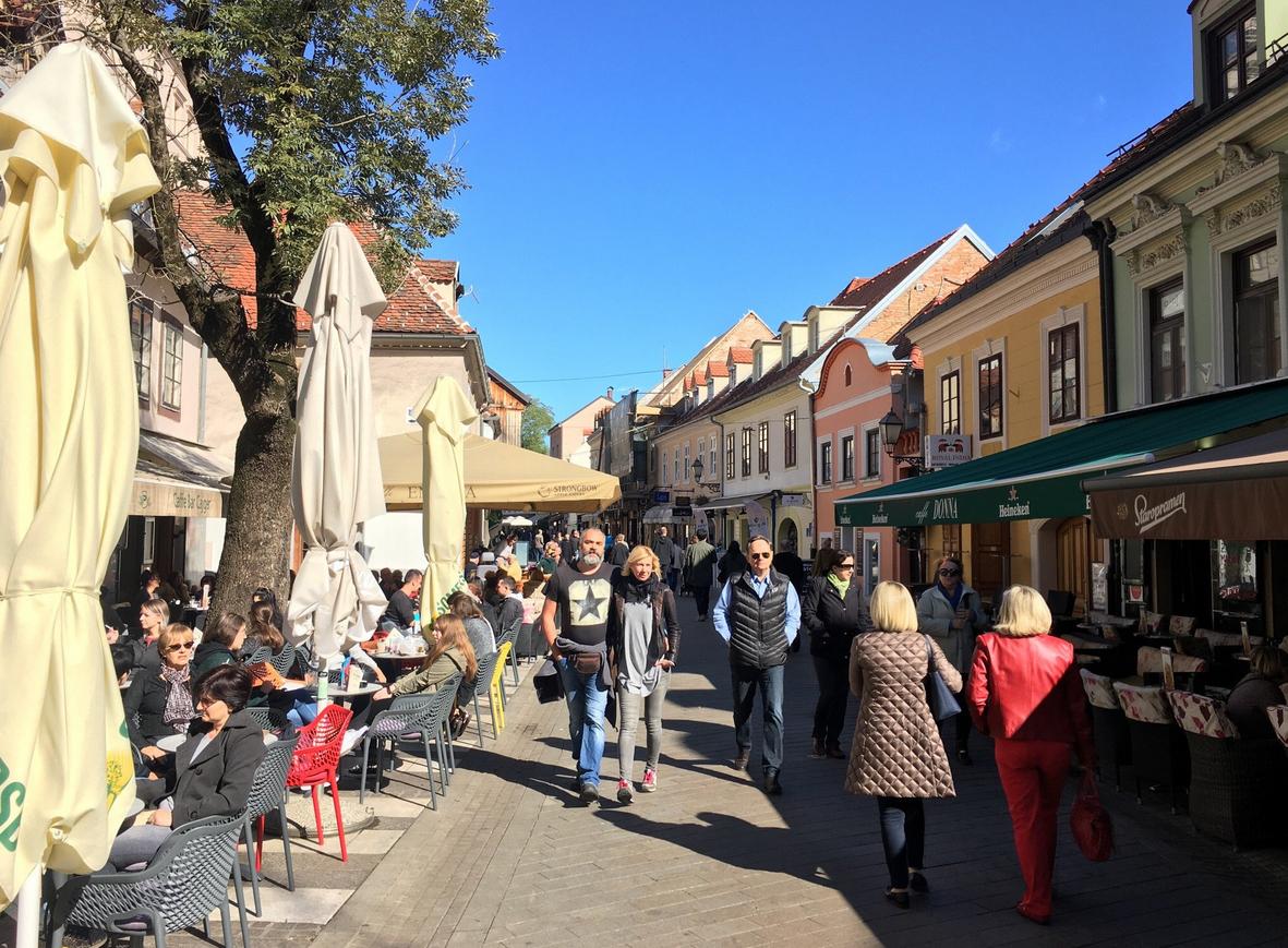Улица Tkalčićeva, Загреб