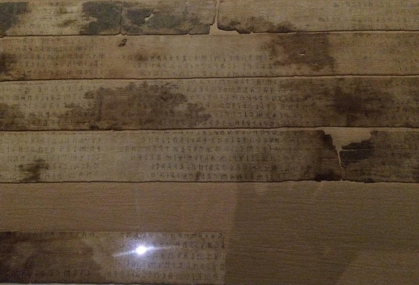 Этрусские письмена, в которые была завёрнута мумия