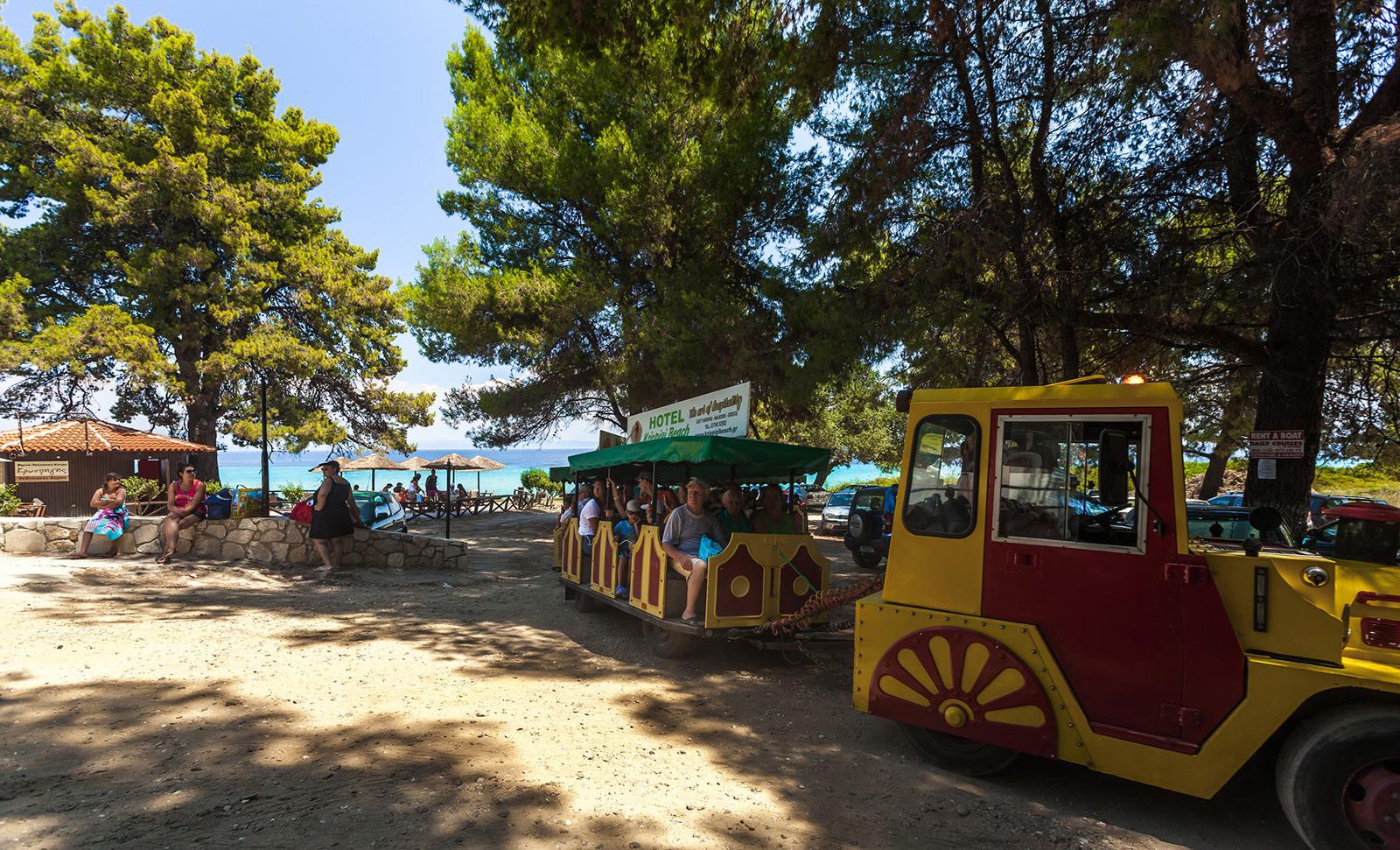 Автотрамвайчик до пляжа