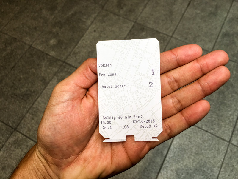 Билет в метро Копенгагена