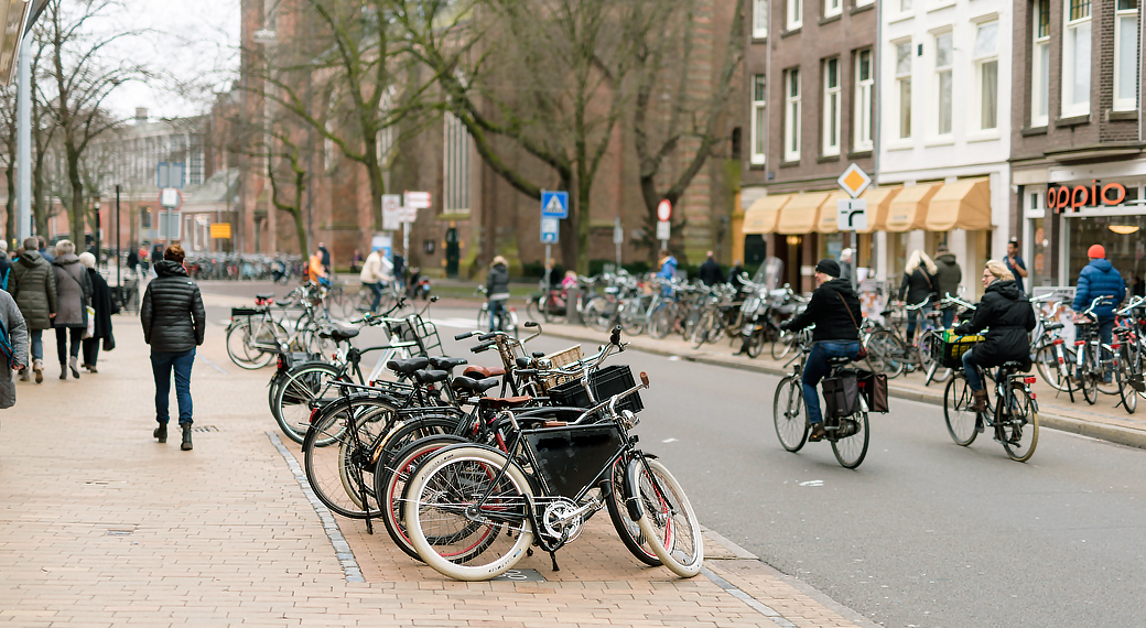 Велосипед основной транспорт Гронингена