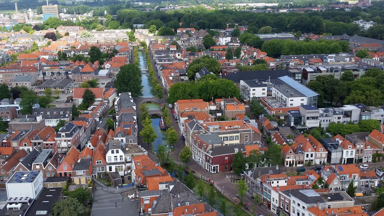 Вид с колокольни Nieuwe Kerk