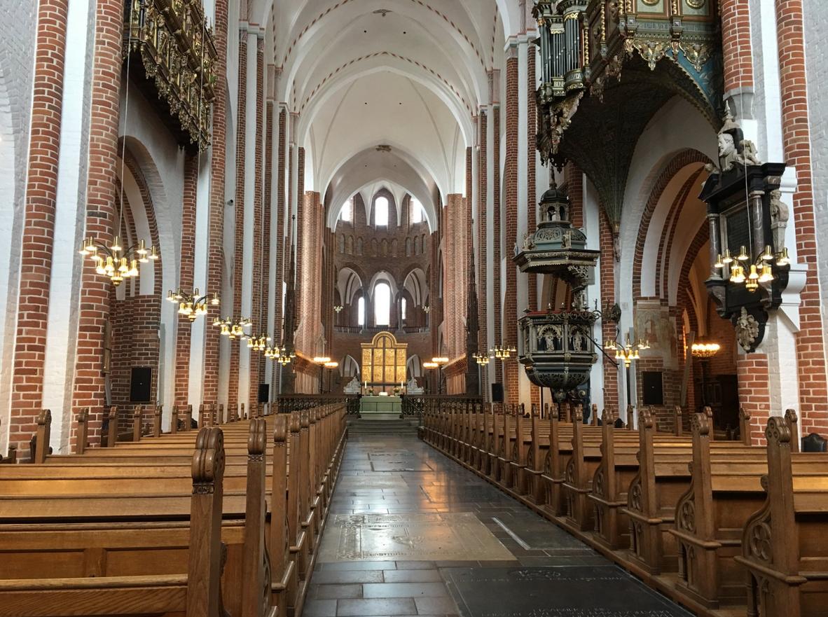 В кафедральном соборе Роскилле